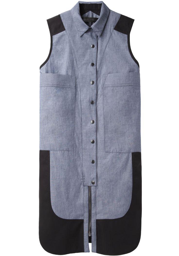 Proenza Schouler / Sleeveless 2 Pocket Shirtdress