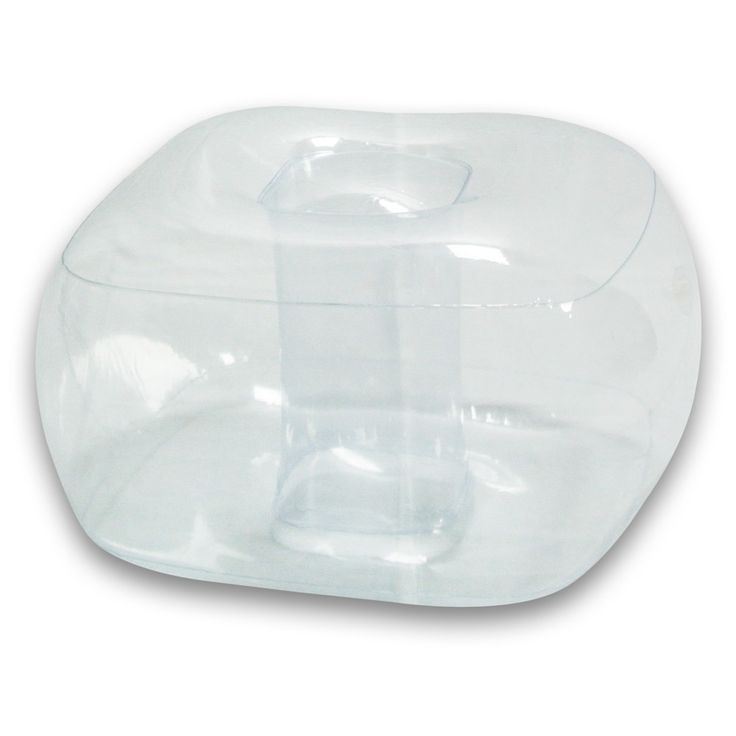 Inflatable Sofa Clear: Crystal Clear Inflatable Bubble Ottoman