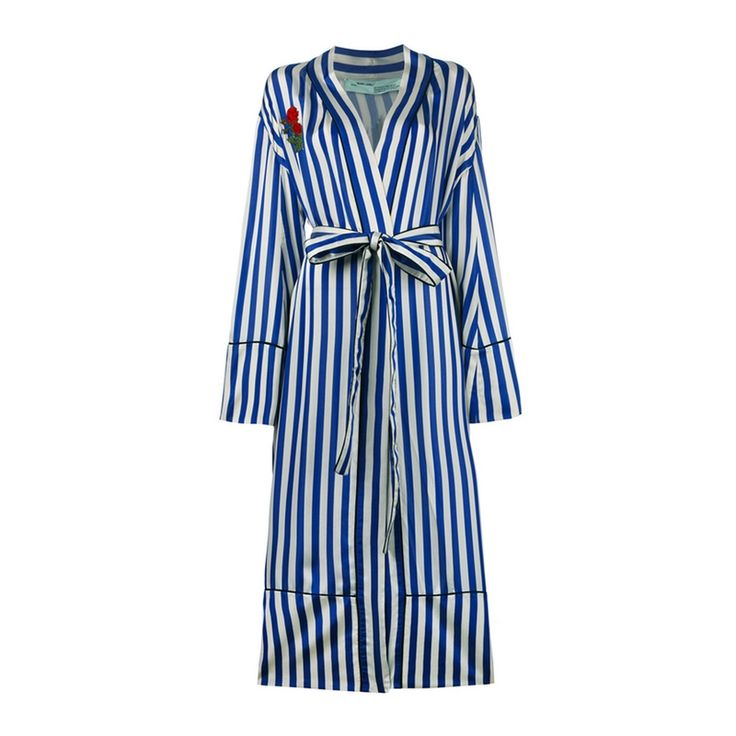 - Off-White Striped Pyjama Coat With Embroidery, $2,735 $1,914