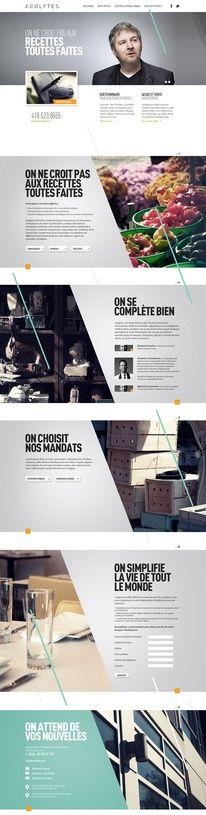 Web Design / Acolytes by Alexandre Desjardins, via Behance