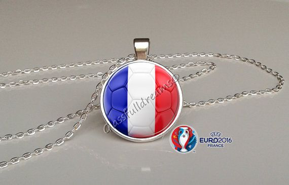 France 2016 Euro Cup France Group A  Pendant by Glassfulldreams