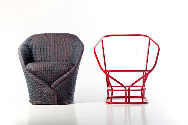 IL MEGLIO DEI PROGETTI DA ABITARE |Talma di Moroso | Struttura in acciaio, seduta con cinghie elastiche e tessuto imbottito in poliuretano. Benjamin Hubert assembla così la versione compatta del relax | #design #arredamento #casa #poltroncine #sedute #ADI2014 |