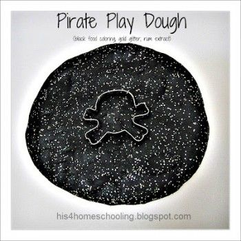 Pirate Sensory Play and Preschool Lesson Plan