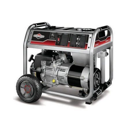 Briggs and Stratton 5000-Watt Gas Powered Portable Generator with 1650 Series 342cc Engine and Power Surge Alternator, Multicolor