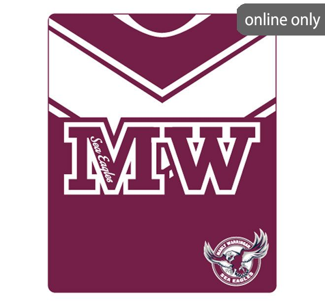 nrl-team-logo-polar-fleece-printed-155x127cm-throw-manly-sea-eagles