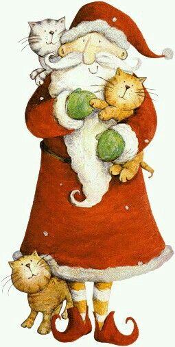 Santa loves cats