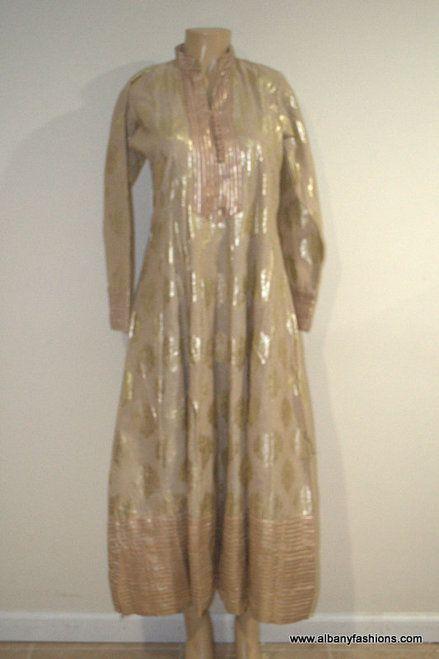 2881-Anarkali Churidar Suit-Cream