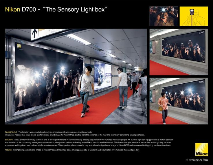 The Sensory Light Box Advertising Ideascreative Advertisingguerrilla Advertisingadvertising Campaignbrand Advertisinglightboxred Carpetsmarketing