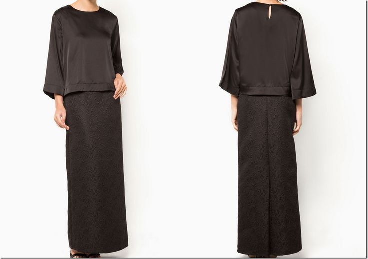 All black for Raya 2015: black-jacquard-baju-kurung