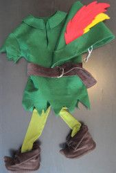 Homemade Peter Pan Costume. This Homemade Peter Pan Costume is perfect for the little boy in your life who will never grow up. Make a felt tunic, hat, belt and even shoe covers with this free sewing tutorial. Everyone will be impressed by this cute DIY Halloween costume.