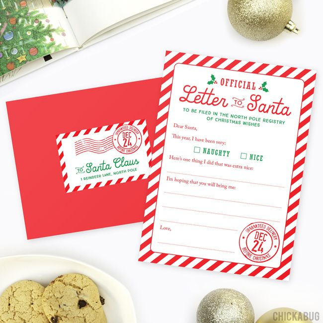 Start a new Christmas tradition with this professionally printed Official Letter to Santa kit! Set of 4 letters, envelopes and mailing labels.