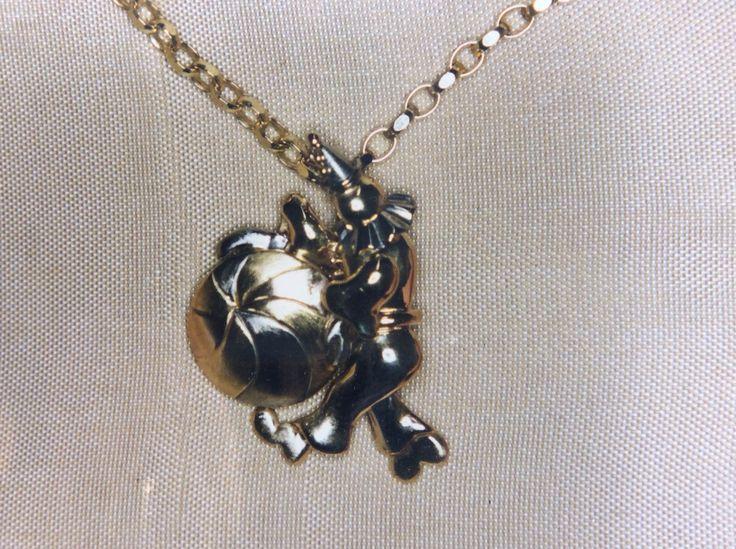Playful clown pendant