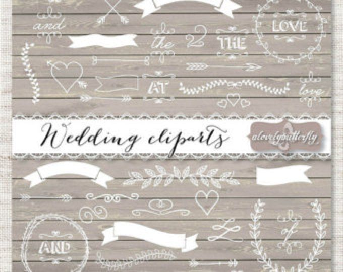 Hochzeit Laurel Clipart, Hochzeit Einladung Digital, Kranz Clipart, digital, Holz laurel Clipart, shabby Chic INSTANT DOWNLOAD