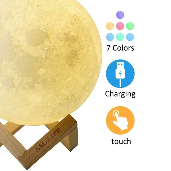 Moon Lamp Moon Night Light For Kids Gift Led 3d Printing Lunar Moon Light Aff Groupon Mobile Devices Ad Night Light Lunar Moon Gifts For Kids