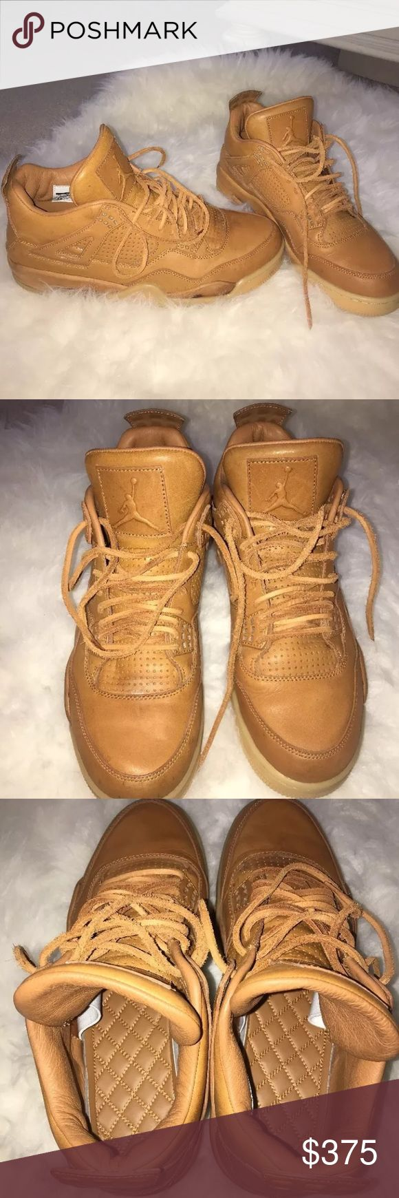 Nike Air Jordan 4 retro premium ginger These are going for $700+ everywhere! I have no box and there is a little staining, but other than that they look brand new! Size 11 men! Super rare and in high demand Air Jordan Shoes Sneakers