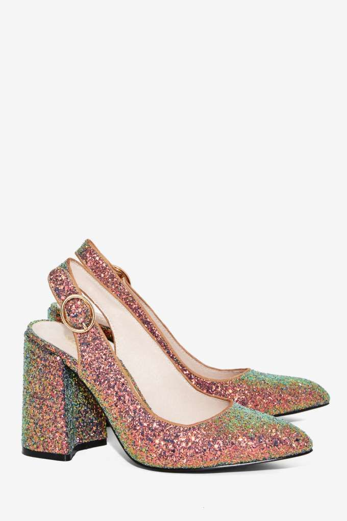 Shellys London: Chester Glitter Heel