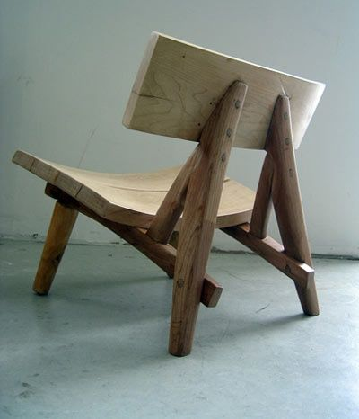 recycled wood chair by john booth