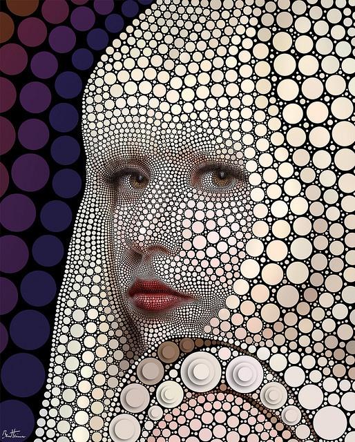 Lady Gaga: Lady Gaga, Circle, Art Pop, Fans Art, Benheine, Digital Photography, Celebrity Portraits, Ben Heine