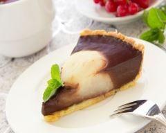 tarte au chocolat et aux poires caramélisées