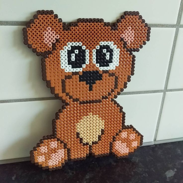 Bear hama beads by frk.freja - Pattern by Anja Takacs: https://de.pinterest.com/pin/374291419015703615/