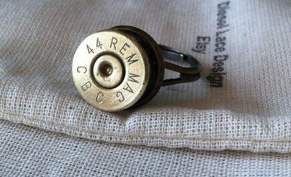 Bullet ring 44 Mag Desert Eagle Adjustable by DieselLaceDesign, $12.99