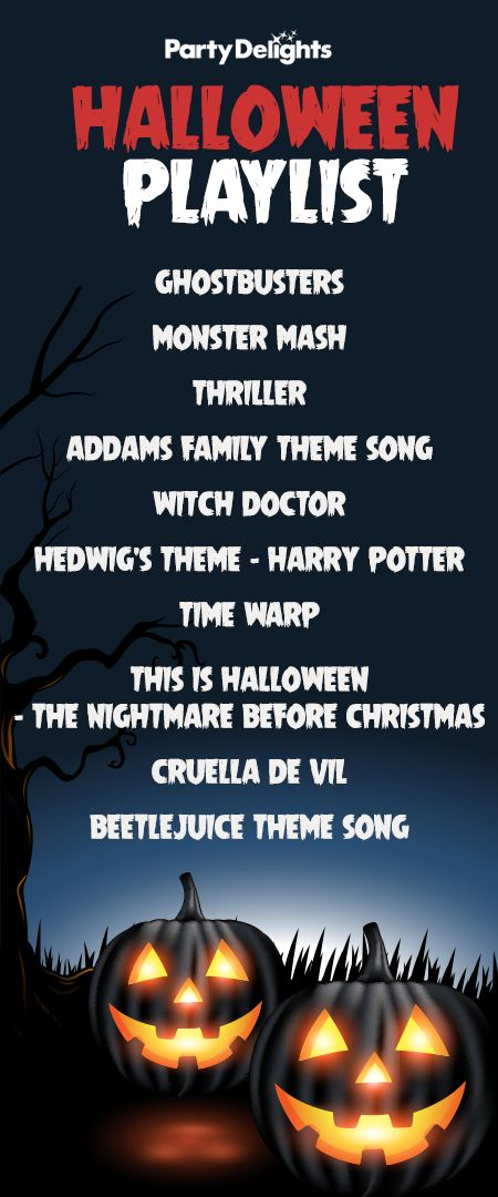 Get your Halloween party started with the ultimate Halloween playlist! Download these classic Halloween party songs and get dancing! #halloweenstuff