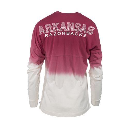 NCAA Women's University of Arkansas Ombré Tribal Football T-shirt