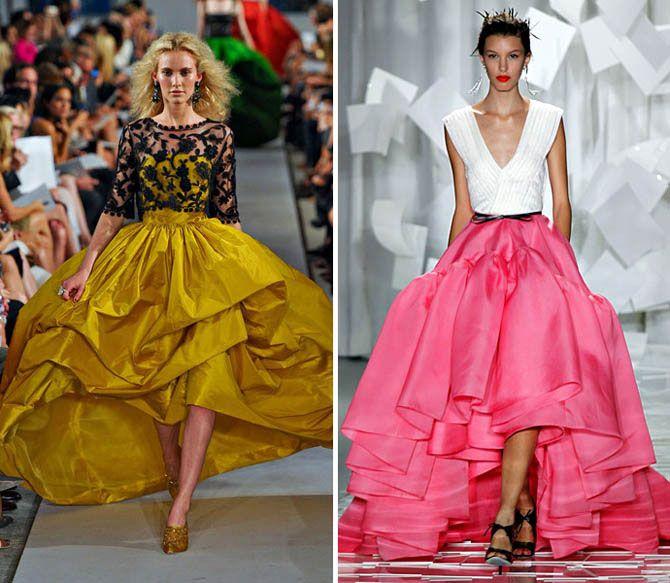 Тренд: юбки с подолом разной длины / Мода / trendy