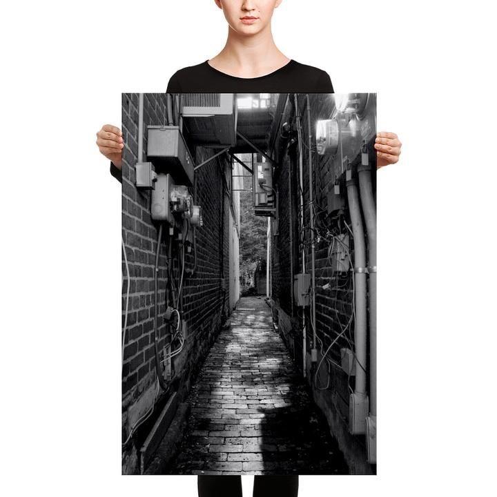 'Alley' visual artwork by Adrian Rodriguez, adds an instant touch of style to your bedroom's feature wall! Available as a wrap around canvas and framed prints, watch this space for further info and fan offers! #loftdecor #bedroomdecor https://www.facebook.com/Bagaceous/