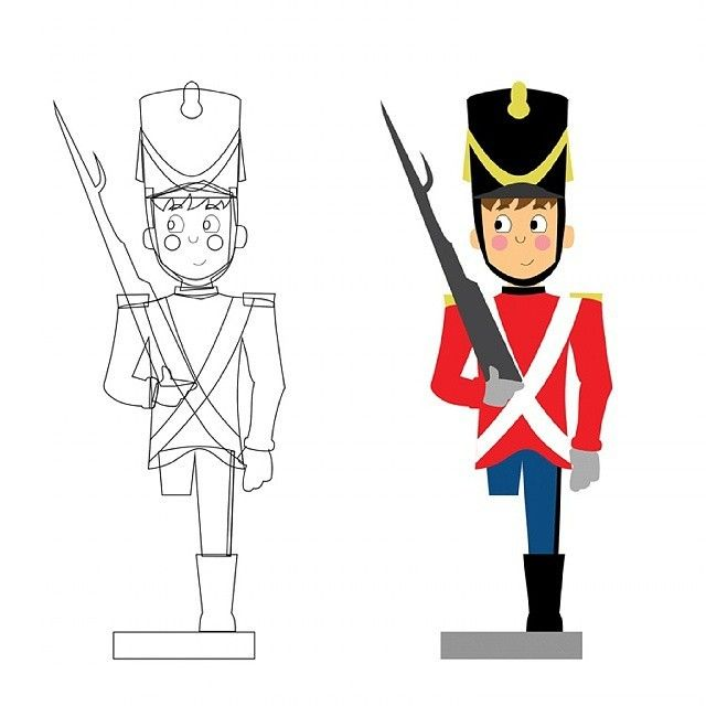 замок картинки оловянного солдатика карандашом них