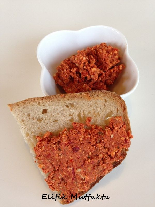 Acılı Girit Ezmesi « Elifik Mutfakta - cheese, walnut, and red pepper spread