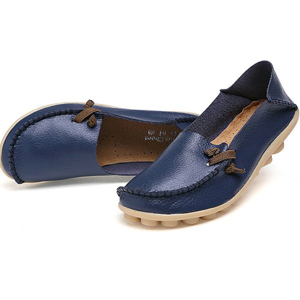 Μεγάλο μέγεθος Μαλακό δέρμα Multi-Way Flat Loafers Για τις Γυναίκες