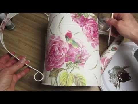 Chalk paint & Decoupage on Metal Pitcher - YouTube
