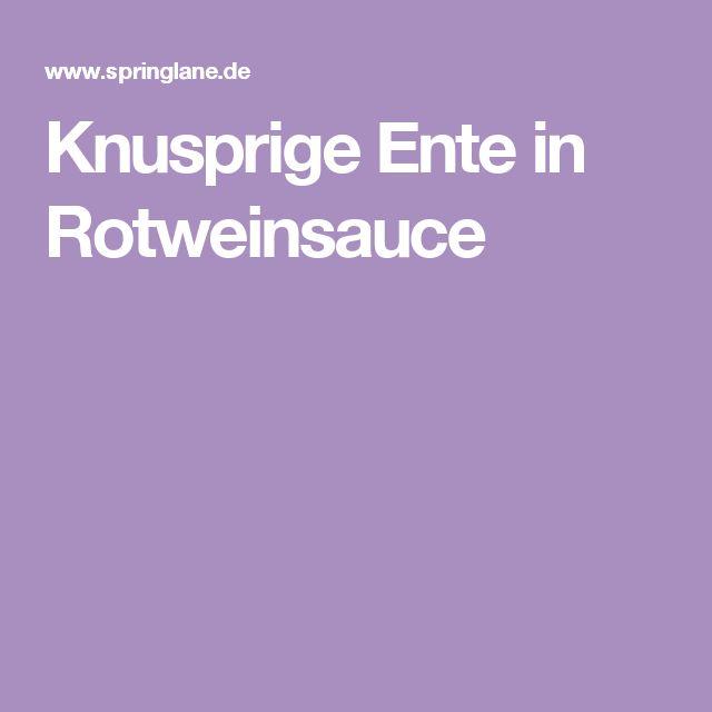 Knusprige Ente in Rotweinsauce