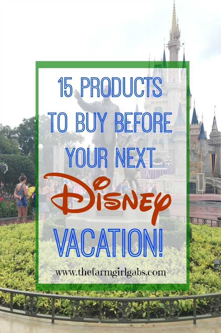 15 Products to buy before your next Walt Disney World vacation. Disney packing tips! #DisneySide