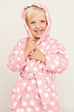Buy Pink Spot Towelling Bathrobe (12mths-6yrs) from the Next UK online shop