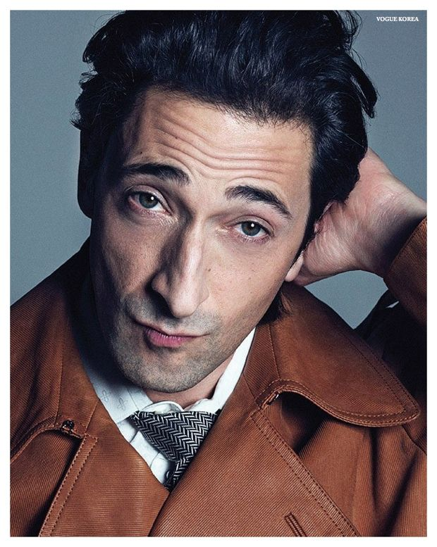 Adrien Brody Dons Sartorial Styles for Vogue Korea February 2015 Photo Shoot