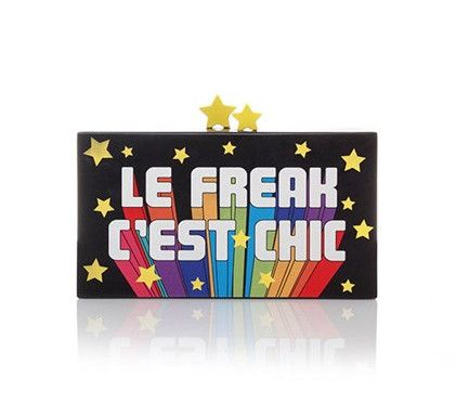 'Le Freak' Wood Clutch
