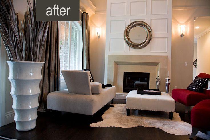 A dramatic living room renovation