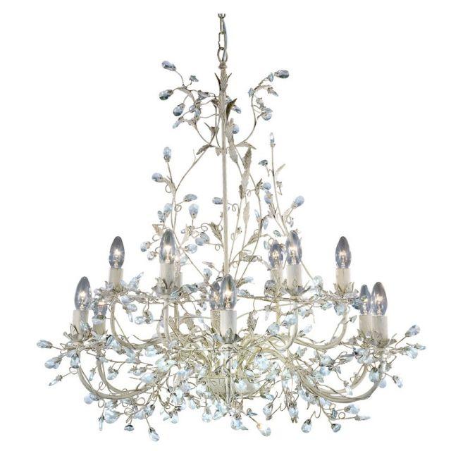 24912-12CR Almandite- 12-ram.luster krémovo-zlatý + krištáľ