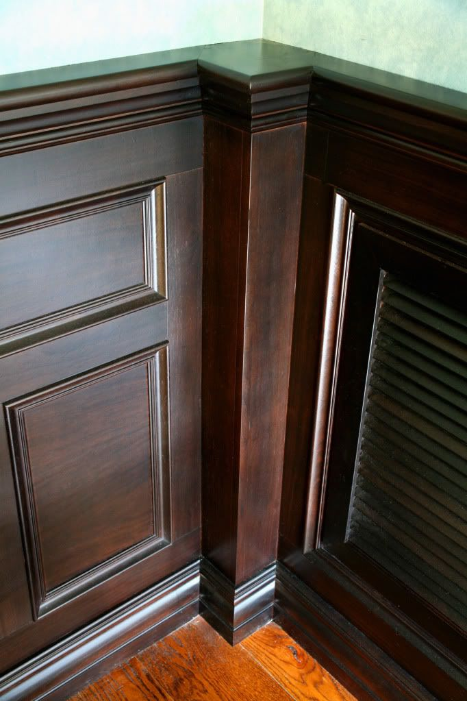 Stained Wainscoting In Dining Room