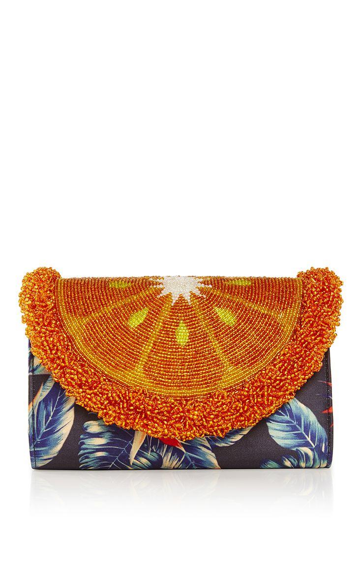 Orange Mini Curved Clutch by SARAH'S BAG for Preorder on Moda Operandi