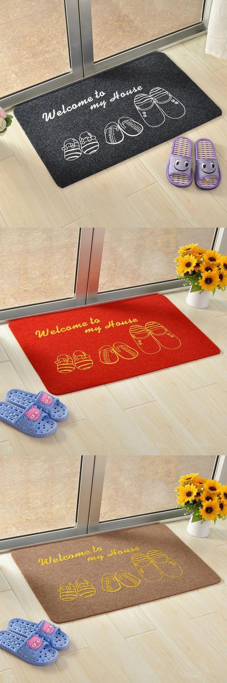 [Visit to Buy] 40cmx60cm Home Supplies Carpets Door Mats Outdoor Home Living Room Entrance Door Mats Absorbent Non-slip Welcome Door Mat #Advertisement
