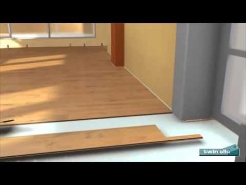 Pokládka laminátovej podlahy KRONO-ORIGINAL - twinclick - YouTube