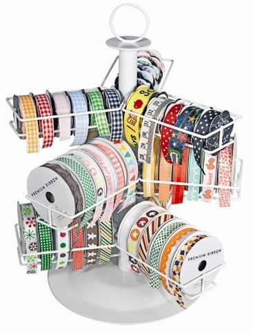 This is neat..But,I would have to have about a hundred of them to hold all of my ribbon.Cropper Hopper - Ribbon Carousel at Scrapbook.com $19.99