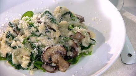 Paddenstoelenrisotto met spinazie - Recept - Allerhande - Albert Heijn