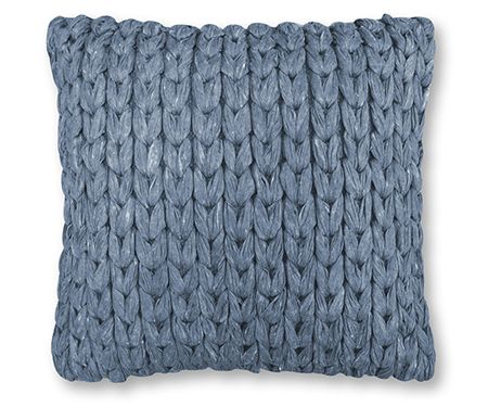 Soft chain cushion in steel blue
