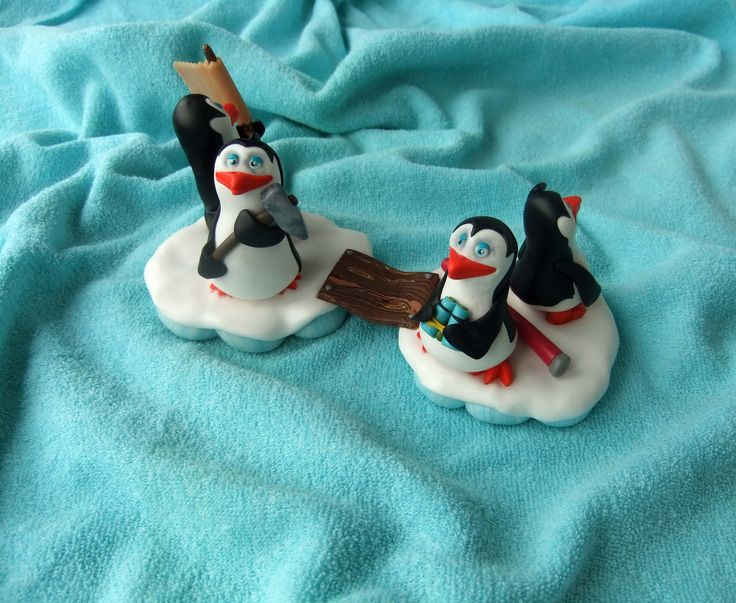 Made to order - Penguins of Madagascar searching for Alex, the birthday girl.