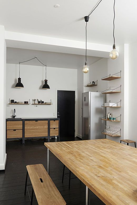 Furniture For The Kitchen #36: 1000+ Ideas About Studio Kitchen On Pinterest | Industrial Side Table, Kitchens And Studio