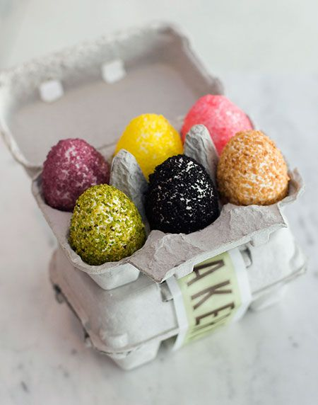 Rice Krispie  eggs from Thomas Keller? So cute and at least slightly more nutritious for kiddos